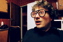 struck (Jan Kritzinger) Tags: kitchen contrast glasses serious sony fake dramatic retro shocked awestruck wx1 jankritzinger