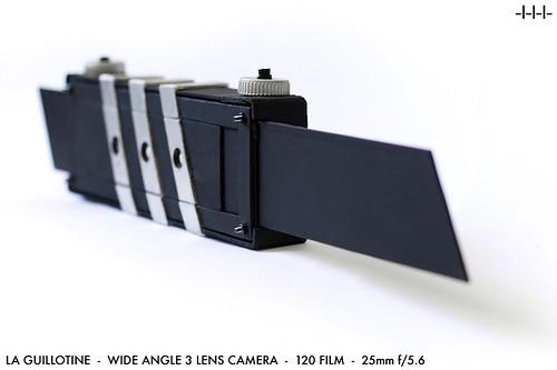 La GUILLOTINE - 3 lens 120film camera - READY...