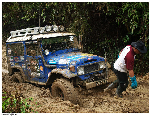 Ranau 4x4 Challenge - Kampung Tagudon Lama Ranau - Toyota Landcruiser BJ46