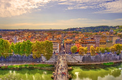 Rome and the Tiber (esinuhe69) Tags: sky italy rome roma colors clouds italia nuvole view palace cielo tevere lungotevere vista colori paesaggio landcape palazzi tibur theunforgettablepictures esinuhe69 oltusfotos ringexcellence