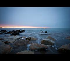 Sunrise Whiterock (Mick H 51) Tags: ireland sea dublin sun beach sunrise canon eos coast rocks long exposure whiterock killiney 450d