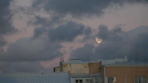 Moon over Helsinki