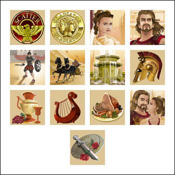 free Gladiator slot game symbols