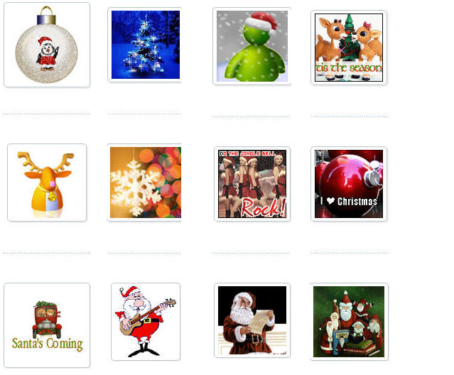 Christmas Icons by Myspace Holiday Graphics.com