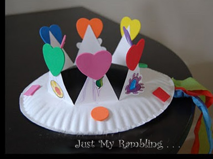 Craft Ideas Simple on Very Simple Craft With A Paper Plate And Some Stickers  Detail
