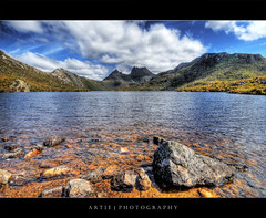 Cradle Mountain, Lake St Clair National Park,Tasmania :: HDR (Artie | Photography :: I'm a lazy boy :)) Tags: mountain lake nature water rock photoshop canon landscape landscapes nationalpark rocks cs2 australia wideangle tasmania handheld hobart 1020mm hdr cradle dovelake artie cradlemountain lakestclaire 3xp sigmalens photomatix tonemapping tonemap 400d rebelxti