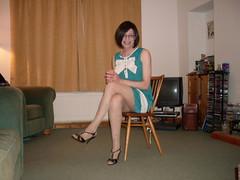 Green Dress (Starrynowhere) Tags: emma tgirl transvestite crossdresser starrynowhere