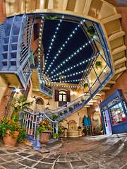 Disneyland's New Orleans Square (Tom.Bricker) Tags: nikon disneyland neworleans disney fisheye disneyworld mickeymouse waltdisneyworld mardigras neworleanssquare waltdisney disneylandresort courtofangels disneyphotos disneyphotography wdwfigment tombricker nikond7000 disneyfisheye
