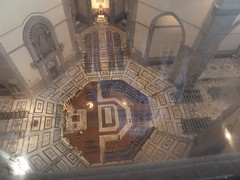 Looking down from base of dome