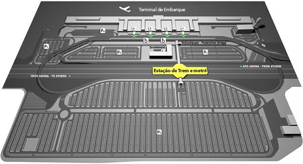 Mapa do terminal de metrô