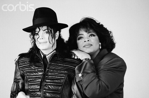 Michael Jackson and Oprah Winfrey photo