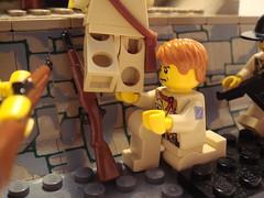 Pvt. Carter lifting (Lordbrickman) Tags: temple lego m1 ww2 thompson garand brickarms