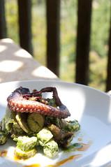 Grilled Octopus, Fingerling Potatoes, Feta, Chorizo, Sauce Vert, Auberge du Soleil, Napa