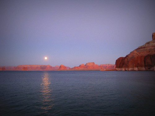 moon over Lake Powell
