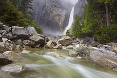 The Lower Falls - Yosemite Falls, Yosemite National Park, California (PatrickSmithPhotography) Tags: california travel vacation usa art yosemitefalls nature water grass rock pine canon river landscape geotagged waterfall paradise canyon cedar yosemite granite 5d mkii frhwofavs photocontesttnc11