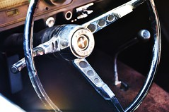 Driving In The Past (PoisonRose) Tags: mustang fordmustang steeringwheel