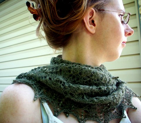 A Swallowtail Shawl-various angles