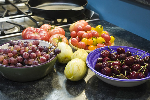 tomatoes lemon cukes cherries grapes