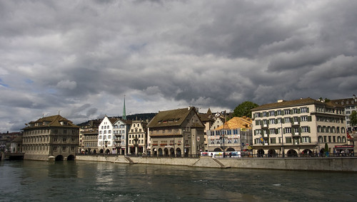 Houses on Zurich lake