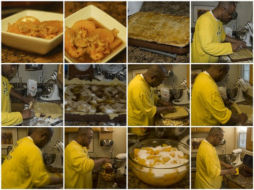 The Making of Peach Cobbler