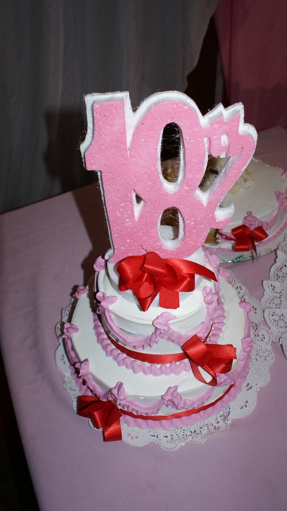Pink Birthday Cake - 18th BDay