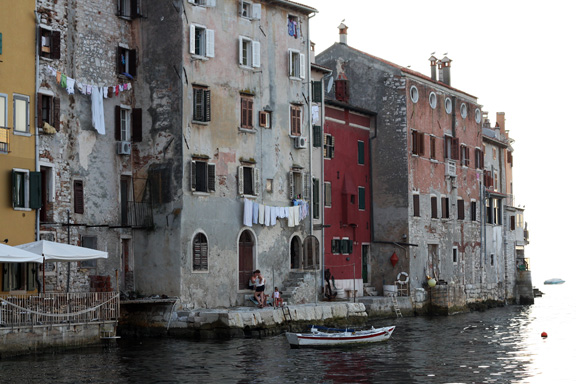 rovinj houses on the sea
