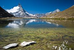 Matterhorn reflections (Focusje (tammostrijker.photodeck.com)) Tags: mountain lake alps reflection water switzerland matterhorn riffelsee wallis