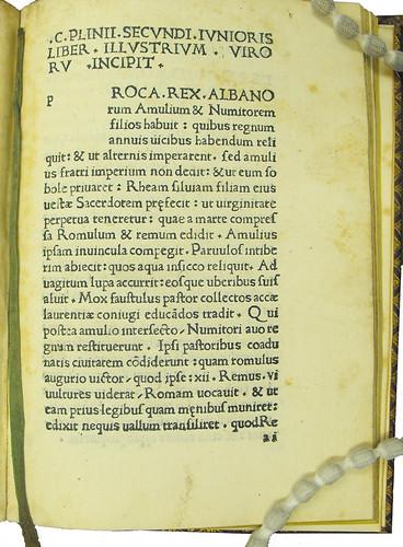 Page of text from Aurelius Victor, Sextus [pseudo-]: De viris illustribus