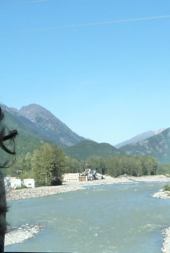 Skagway River, from inside bus