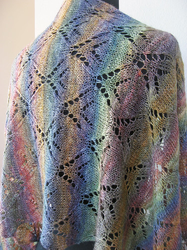 Handspun and Alpaca shawl