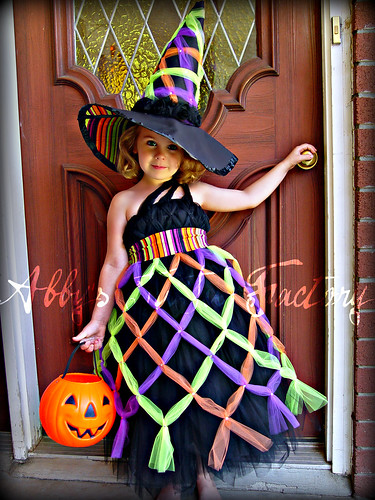Bewitching Costume- criss cross witch tutu dress by Abbys TuTu Factory