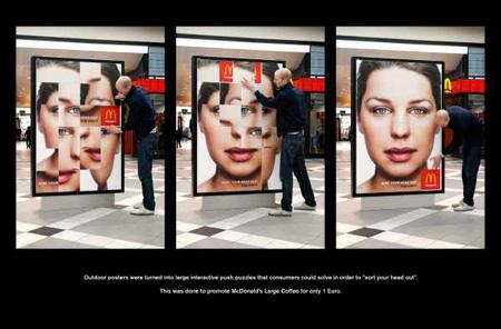 puzzle - interactive billboard