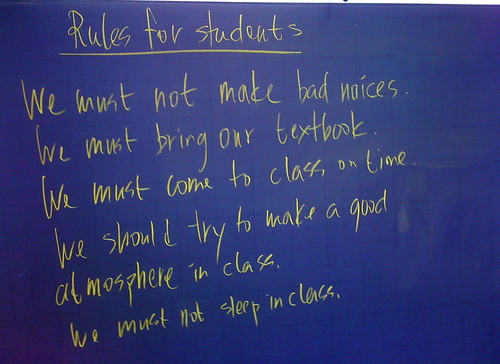 Rules for Students Fall 2009-1