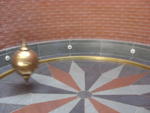 Foucault pendulum at the University of Washington Physics Building