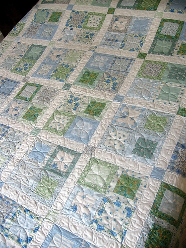 Quilts On Bastings Springtime Blue Green