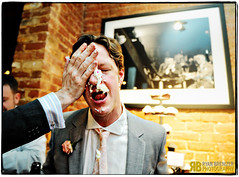 Have Your Cake and Wear it Too (Ryan Brenizer) Tags: wedding cake fun groom nikon louisiana funny neworleans flash cupcake d3 weddingphotojournalism 2470mmf28g evaandlane