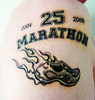 my 25th Marathon Anniversary Tattoo
