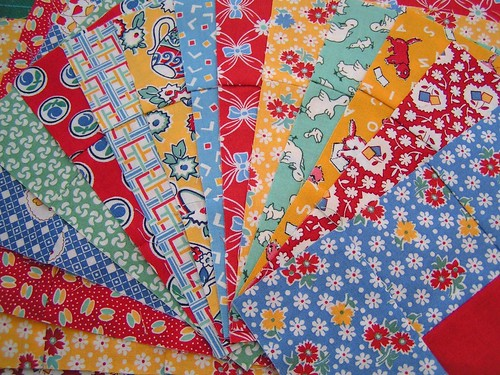 30s fabrics for a quilt