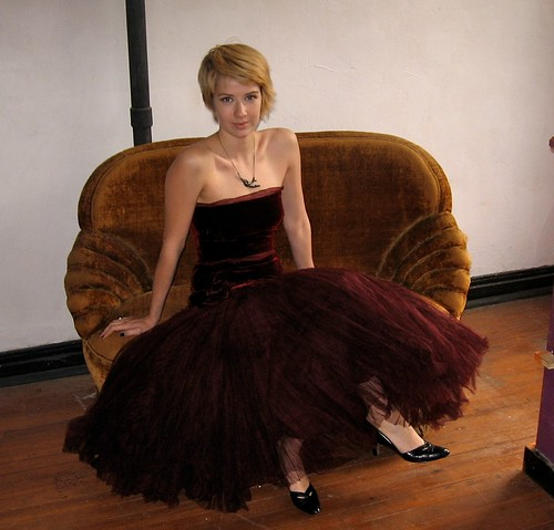 1940's Velvet and Tulle Gown