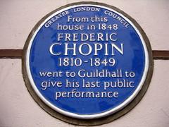 Photo of Frédéric François Chopin blue plaque