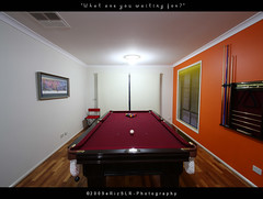 What are you waiting for? (i) Tags: wideangle billiards pooltable uwa orangewall erizslr