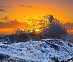 Sunrise Series Currumbin_10292009 (Michael Dawes) Tags: ocean camera beach yellow sunrise pacific country australia queensland towns 61 currumbin goldcoast canon50d canon24105mmf4ismusm