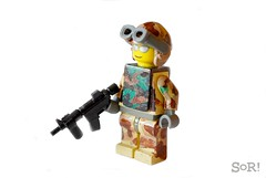 Modern Warfare- Desert (The Sargeant of Randomness (no longer active)) Tags: modern freedom desert lego iraq camo operation camoflauge iraqi warfare hk416 brickarms