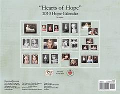 Back cover, Hope Calendar sneak peeks
