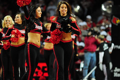 2009 11 04_8287.jpg (kylures) Tags: basketball cheerleaders dancers spirit knights louisville ncaa ladybirds ul cardinals bellarmine uofl freedomhall ncaabasketball collegecheerleaders