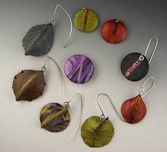 Evolution of an earring (metalartiste) Tags: polymerclay naftali polymerclayearrings polymerclayearring janiceabarbanel