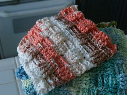 Basketweave washcloth