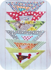 more scrap busting triangles (sewtakeahike) Tags: quilt quilting quilts patchwork quiltblocks