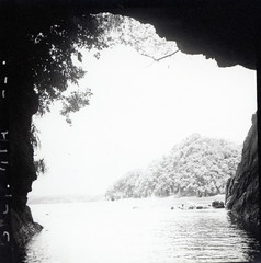 Cave along shoreline of Kahatola Island