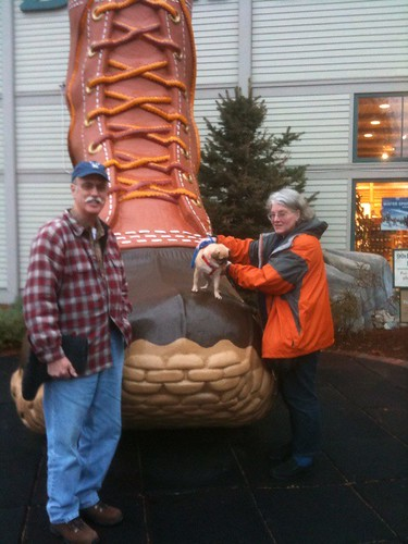 Mom, Dad & Sandy at LLBean